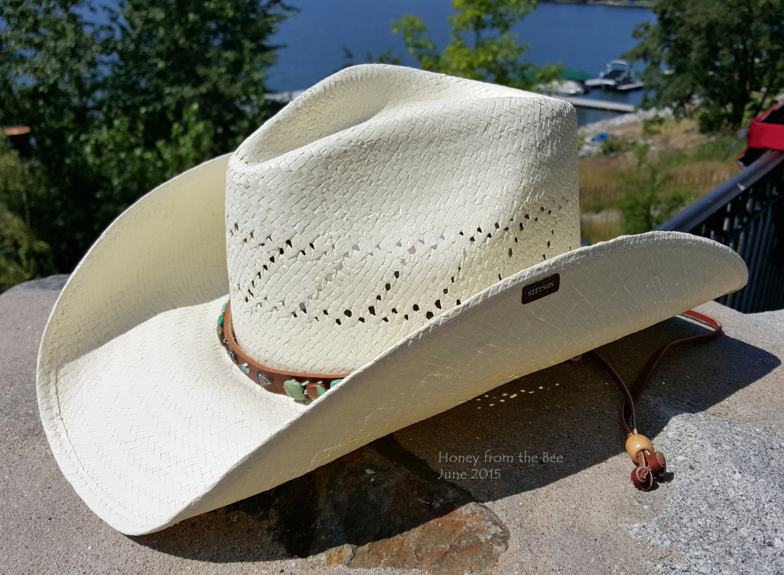 Stetson beaded with turquoise