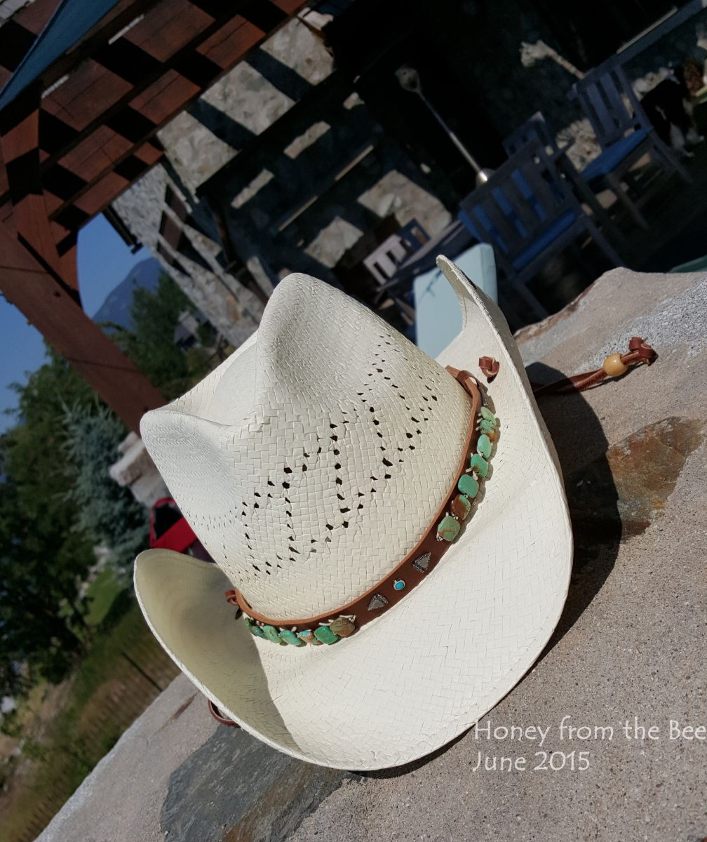 Turquoise beaded Stetson cowboy hat
