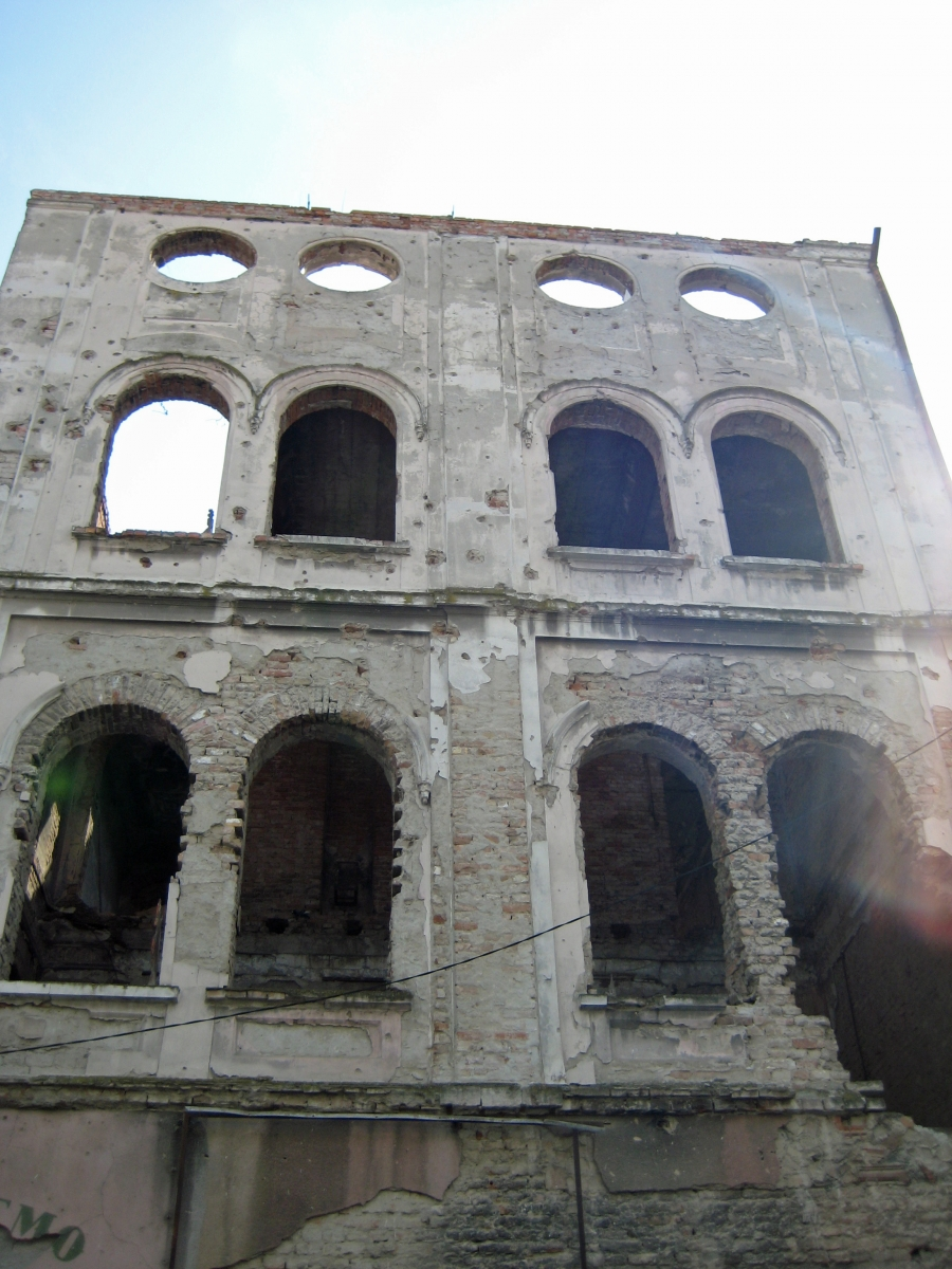 Bombed out building, Vukovar, Croatia