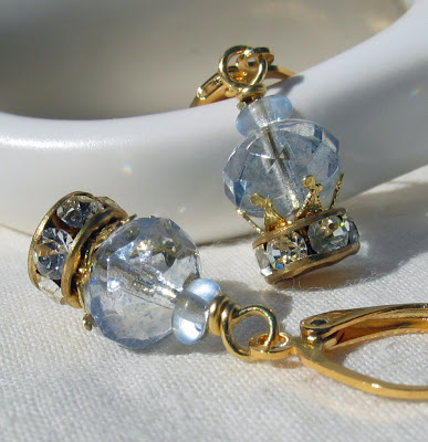 Bridal Crown earrings by Honey from the Bee