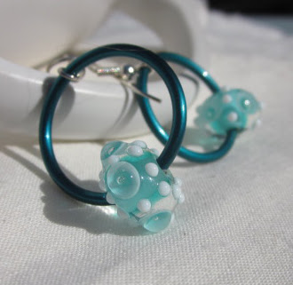 Teal Artisan earrings by Honey from the Bee