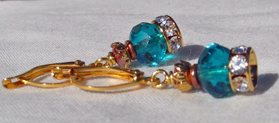 Byzantine Crown earrings by Honey from the Bee