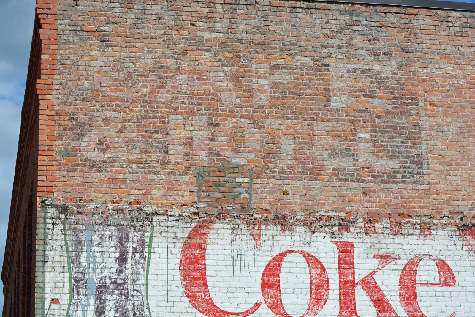 Typography - old painted signs on buildings