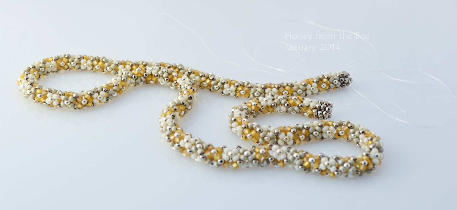 Chenille Stitch seed bead necklace