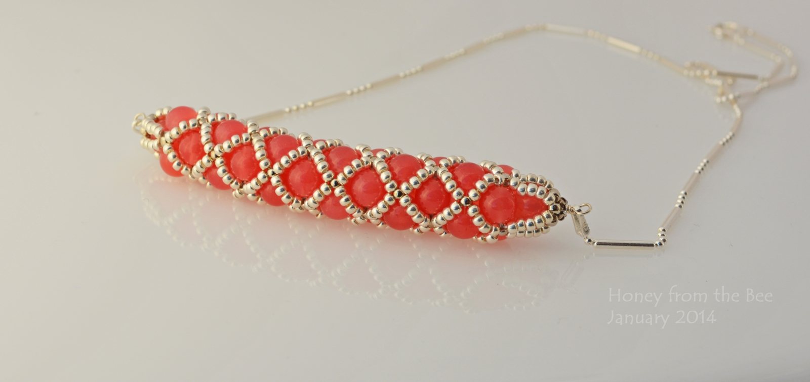 Cherry Quartz and seed bead necklace