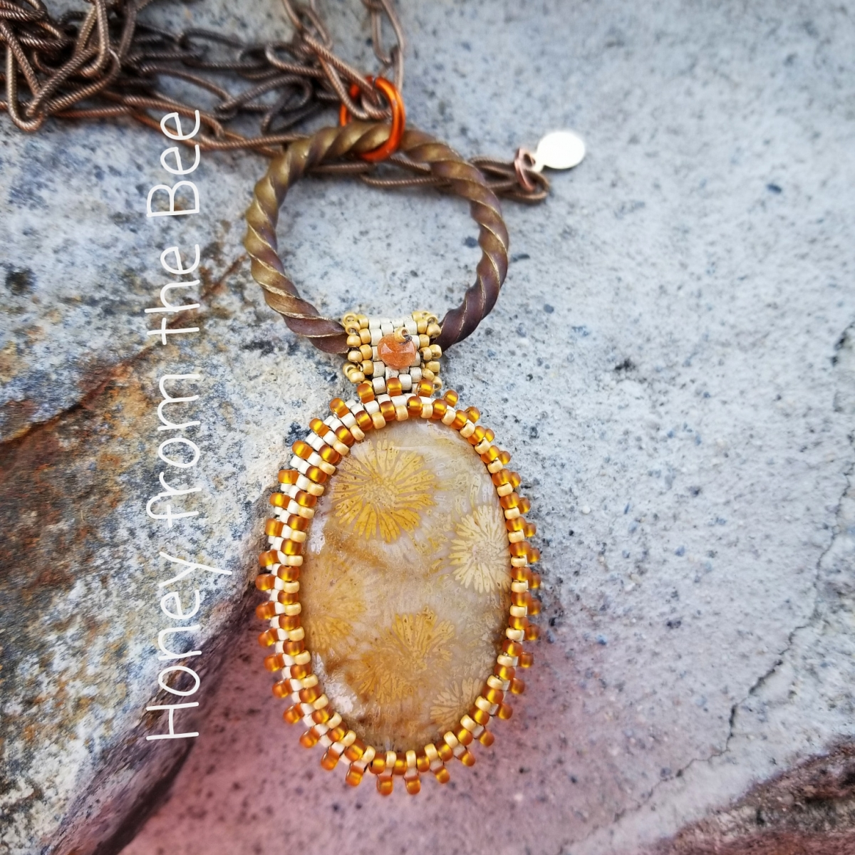 Coral Agate Necklace