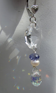 Bride's artisan earrings by Honey from the Bee