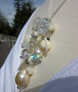 Bride's Artisan Necklace by Honey from the Bee