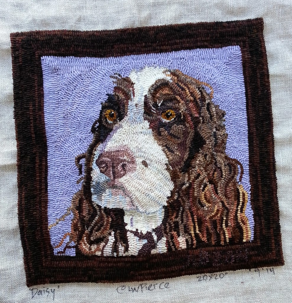 Daisy - My English Springer Spaniel hooked rug
