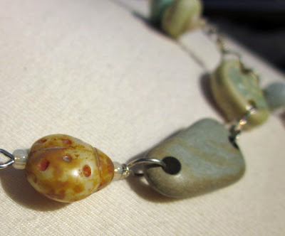 Mixed Media Ocean inspired necklace by Honey from the Bee