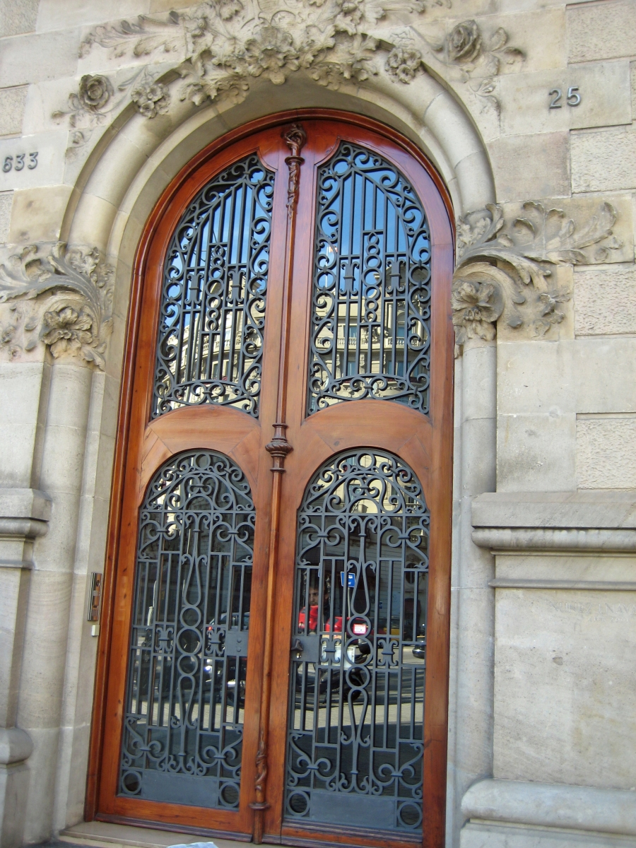 Ironwork gate in Barcelona