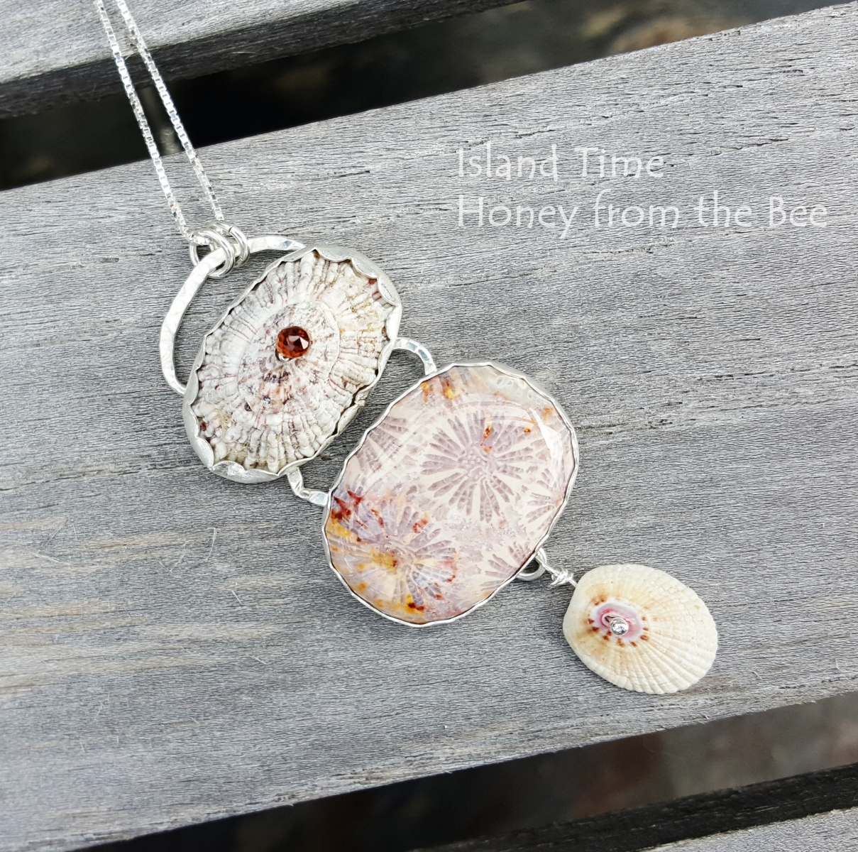 Shell and Coral Pendant