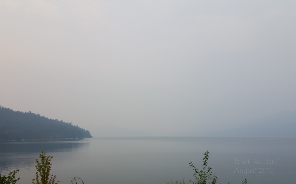 Smoky skies over Lake Pend Oreille