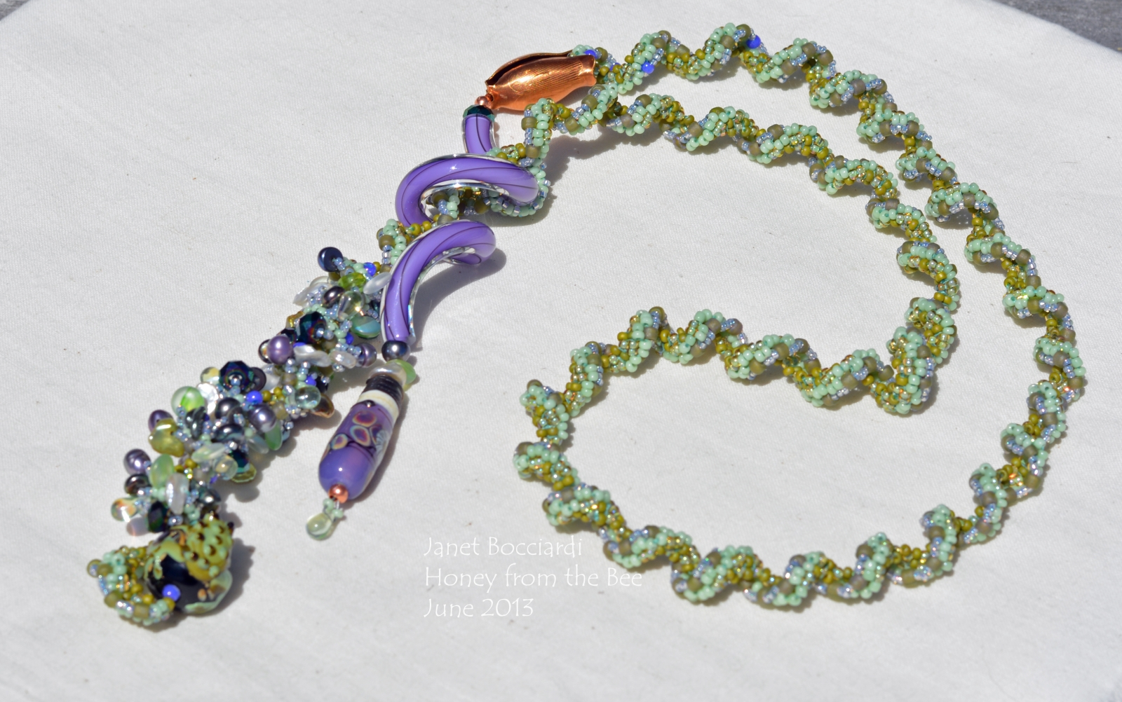 Seed Bead and Lampwork Statement Necklace
