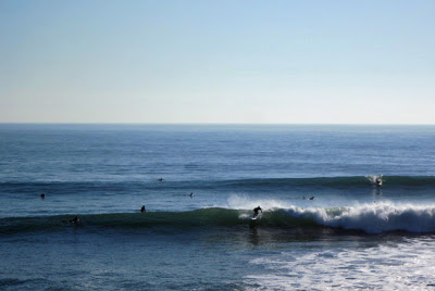 Surfers at Cowell's