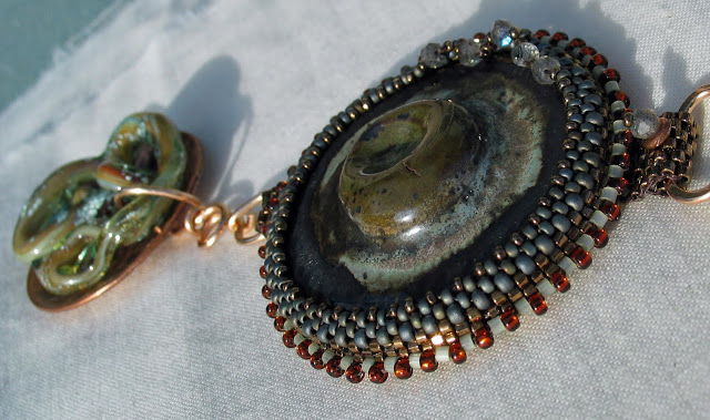 Mixed media Statement Necklace by Honey from the Bee