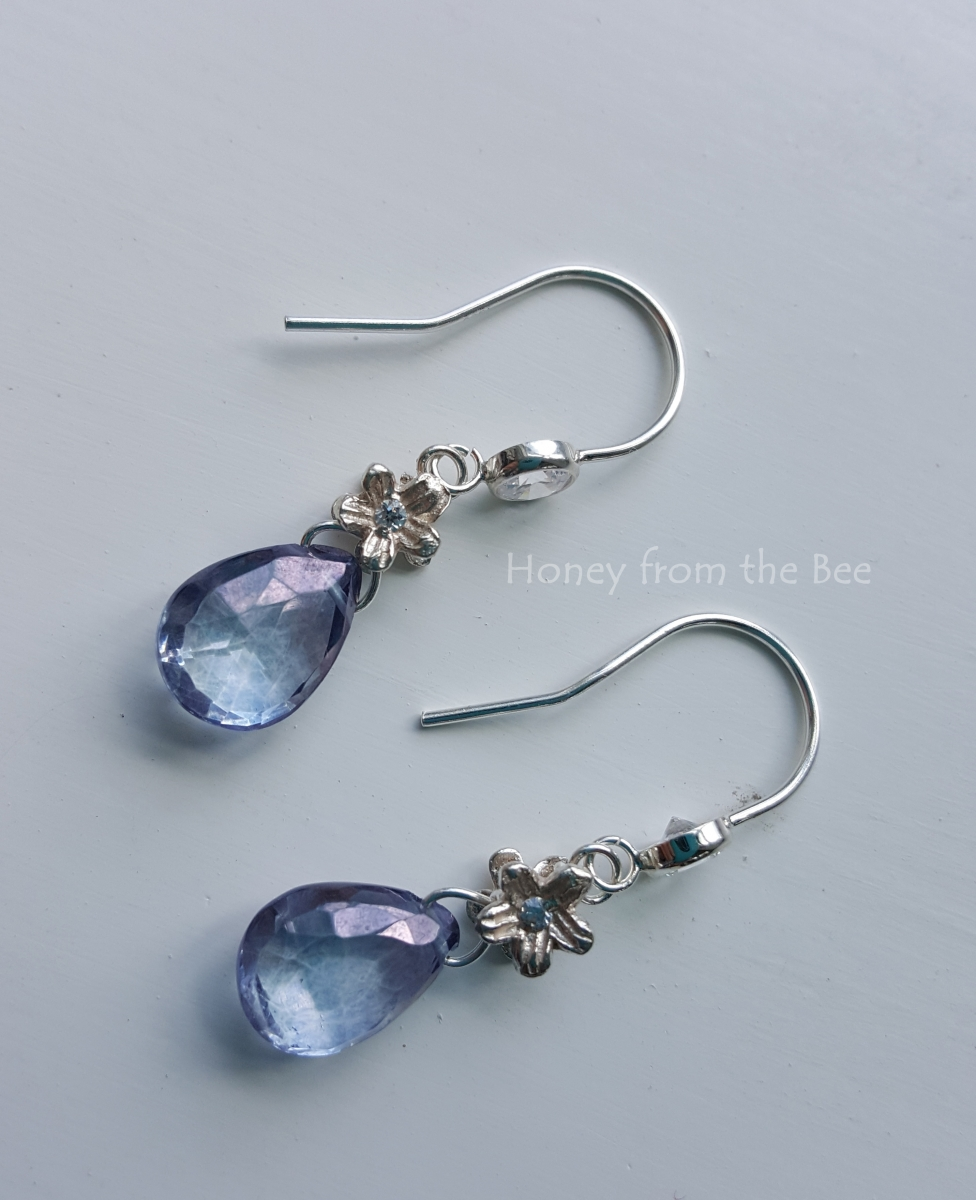 Tanzanite Mystic Quartz earrings