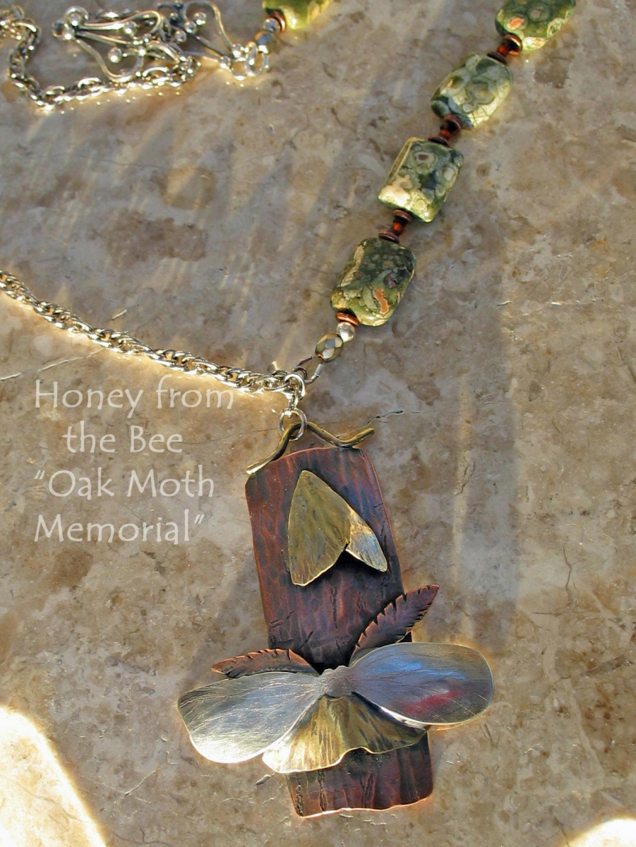 Mixed Metal Nature Necklace