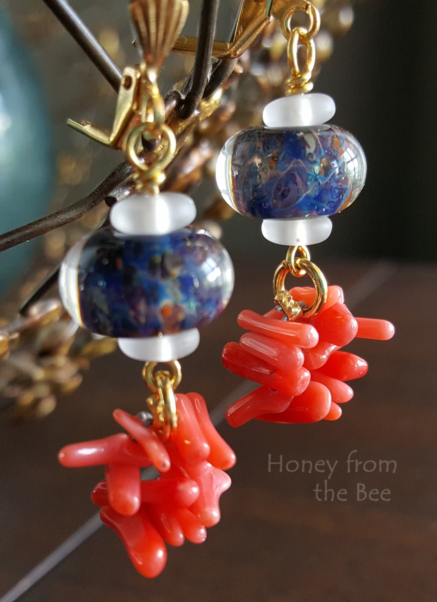 Living Coral earrings