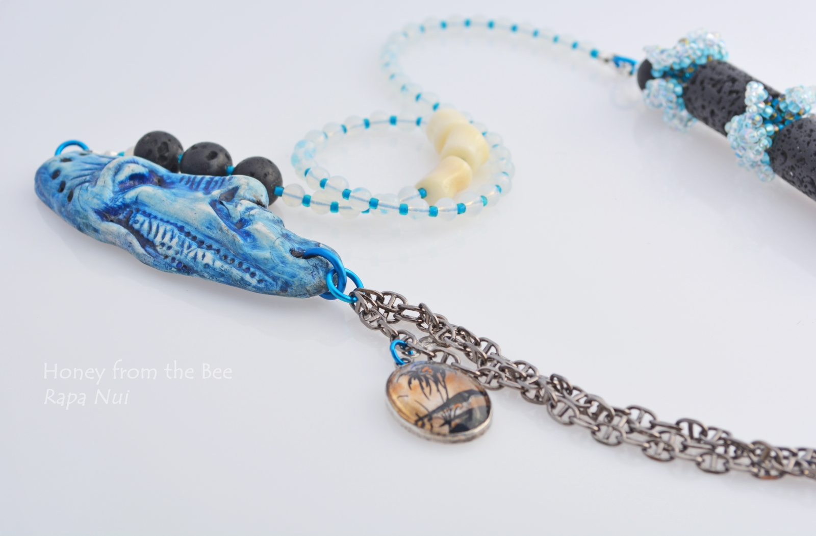Mixed Media Ocean inspired necklace