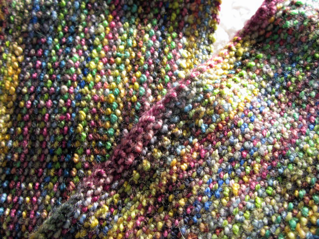 Scarf knitted with koigu
