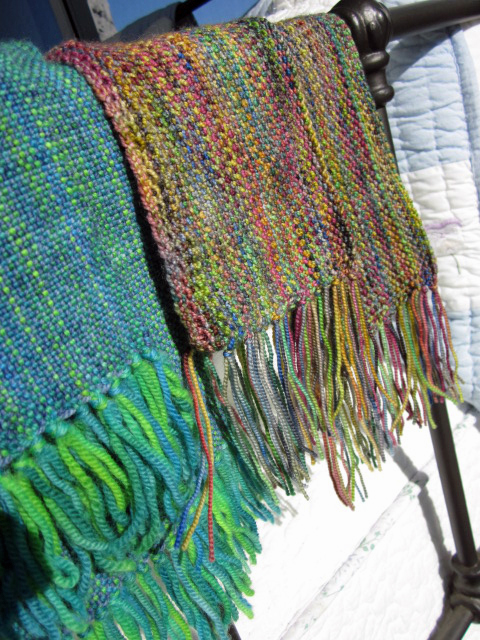 Woven and knitted scarf