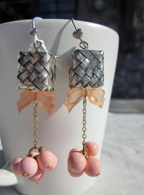 Pink Ribbon earrings by Honey from the Bee
