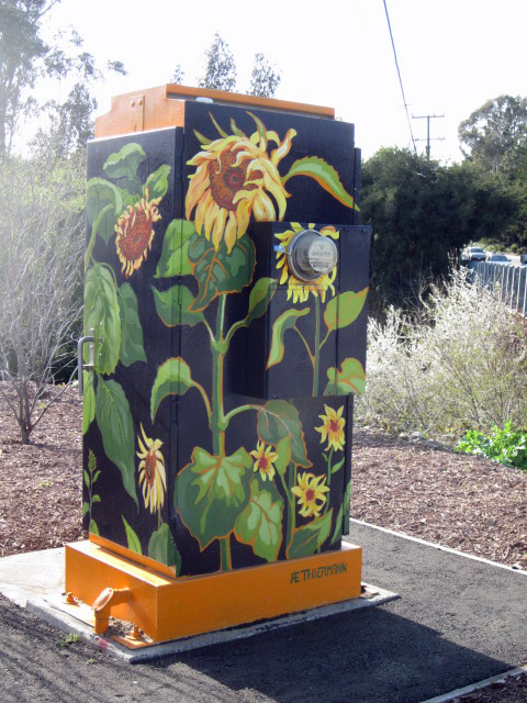 Sunflower Painted Utility box