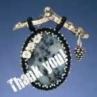 Thank you with a photo of my Winter Memories pendant