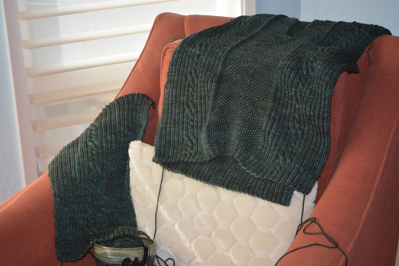 Able Cable sweater for husband
