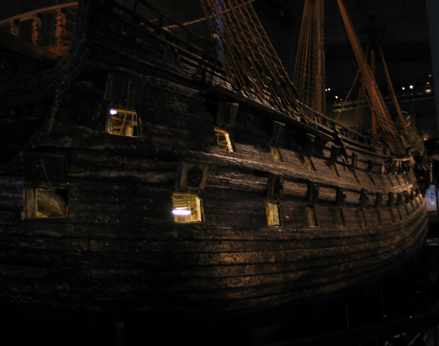 Vasa wooden ship