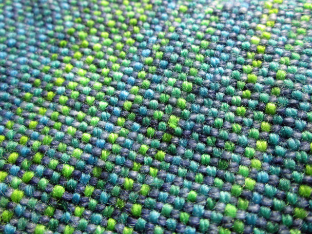 Woven scarf close up